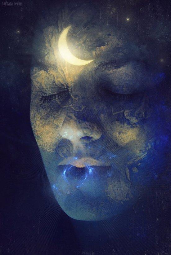 en la noche de luna creciente